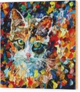 Charming Cat Wood Print
