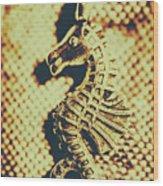Charming Vintage Seahorse Wood Print