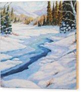Charming Winter Wood Print