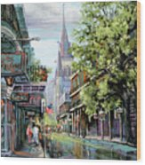 Chartres Rain Wood Print