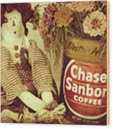 Chase And Sanborn Wood Print