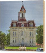 Chase Co Courthouse Wood Print