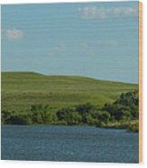 Chase Lake Pano 1 Wood Print