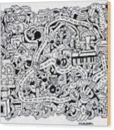 Chasen' Jason Wood Print by Chelsea Geldean