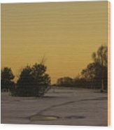 Chasewater Evening Wood Print