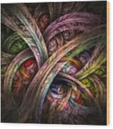 Chasing Colors - Fractal Art Wood Print