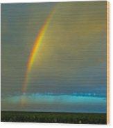 Chasing Nebraska Lightning 007 Wood Print