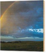 Chasing Nebraska Lightning 009 Wood Print