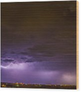 Chasing Nebraska Lightning 035 Wood Print
