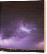 Chasing Nebraska Lightning 041 Wood Print