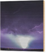 Chasing Nebraska Lightning 045 Wood Print