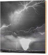 Chasing Nebraska Lightning 052 Wood Print