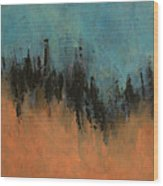 Chasing Stories Abstract Painting Wood Print