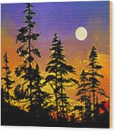 Chasing The Moon Wood Print