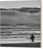 Chasing Tide And Light Wood Print