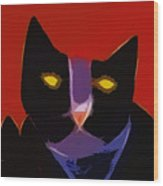 Chat Noir Wood Print