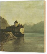 Chateau De Chillon Wood Print by Gustave Courbet