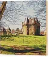 Chateau De Landale Wood Print