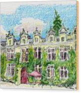 Chateau De Maumont Wood Print by Tilly Strauss