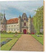 Chateau De Saint-germain-de-livet, Normandy, France Wood Print