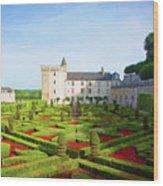 Chateau De Villandry, Loire, France Wood Print