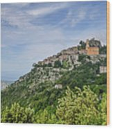 Chateau D'eze On The Road To Monaco Wood Print