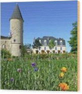 Chateau Guiraud In Spring Wood Print