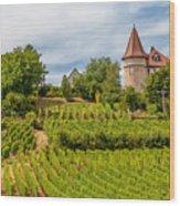 Chateau In A Vineyard Wood Print