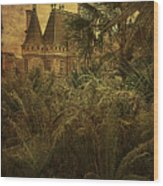 Chateau In The Jungle Wood Print