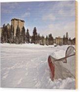 Chateau Lake Louise In Winter In Alberta Canada Wood Print