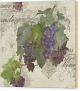 Chateau Pinot Noir Vineyards - Vintage Style Wood Print