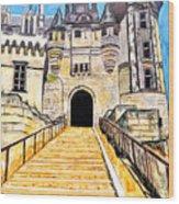 Chateau Saumur, A Long Way Up Wood Print