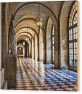 Chateau Versailles Interior Hallway Architecture  Wood Print