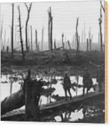 Chateau Wood France World War One  1917 Wood Print