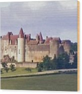 Chateauneuf En Auxois France Wood Print by Marilyn Dunlap