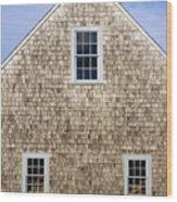 Chatham Boathouse Wood Print
