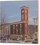 Chatham Clock Tower Wood Print by Kenneth Young