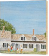Chatham House Croquet Players Wood Print