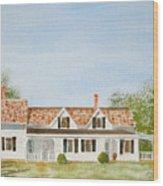 Chatham House II Wood Print