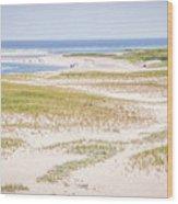 Chatham Lighthouse Beach Wood Print