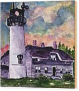 Chatham Lighthouse Martha's Vineyard Massachuestts Cape Cod Art Wood Print