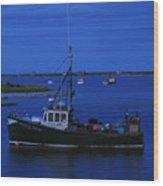 Chatham Pier Fisherman Boat  Wood Print