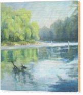 Chattahoochee River- Trout Fishing Wood Print
