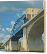 Chattanooga Bridge Wood Print