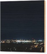 Chattanooga By Night Wood Print