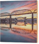 Chattanooga Sunset 5 Wood Print