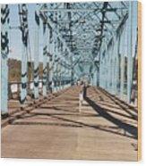 Chattanooga Walking Bridge Wood Print by Jake Hartz