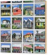 Chattel Houses Of Barbados Wood Print