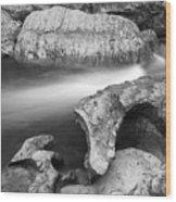 Chattooga River Bw1 Wood Print