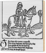 Chaucer: The Prioress Wood Print